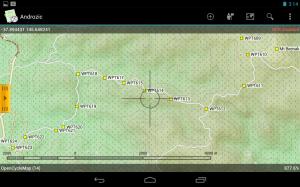 Screenshoot using Open Cycle maps